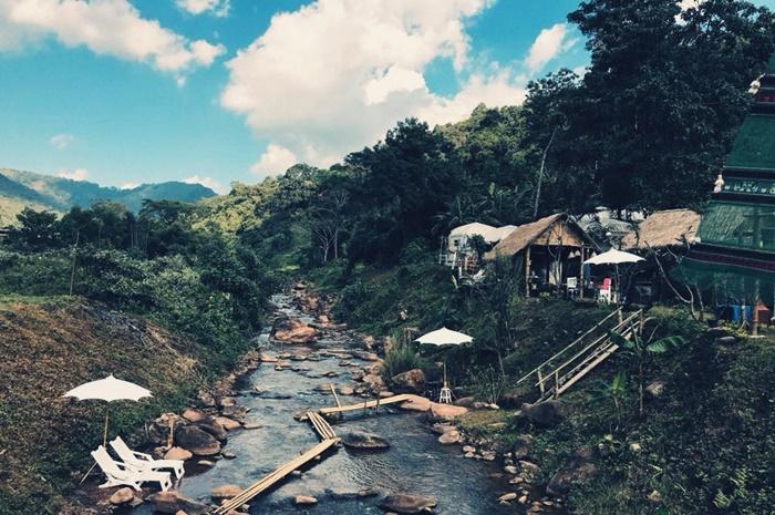 ที่พักบ่อเกลือน่านริมน้ำ ที่พักริมน้ำบ่อเกลือ ที่พักหน้าฝนบ่อเกลือ