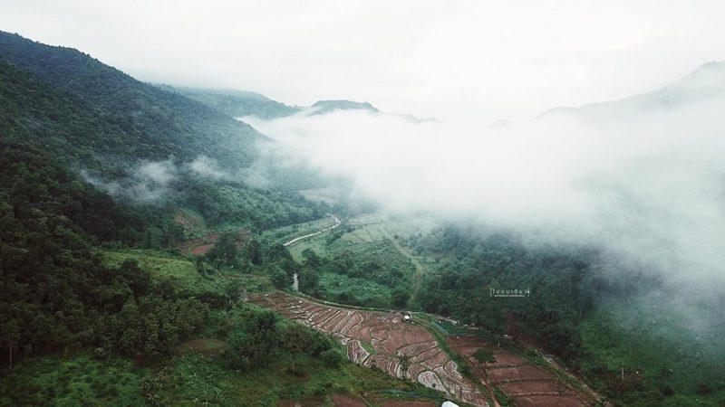 ภูเขา นาขั้นบันได ที่พัก บ่อเกลือโบราณ
